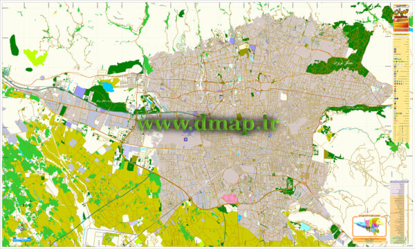نقشه مدیریتی تهران