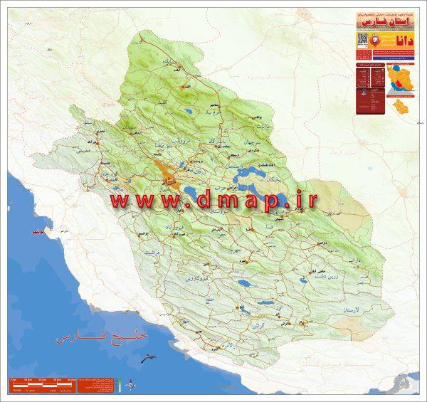 نقشه فارس - محصول دانا