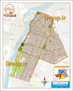 نقشه منطقه 1 اهواز