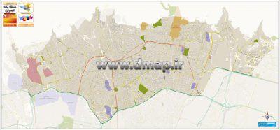 نقشه منطقه یک شهرداری تهران