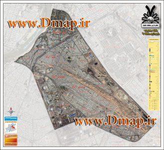 نقشه ماهواره ای منطقه 7 اهواز