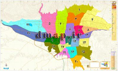نقشه مناطق 22 گانه شهرداری تهران