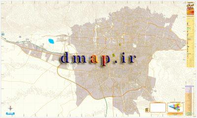 نقشه معابر تهران